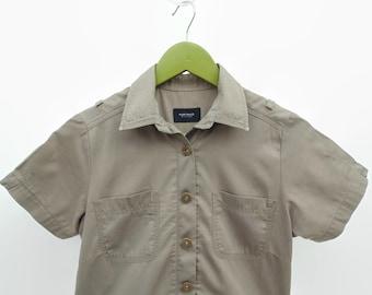 Cargo, Shirt Dress, Dress with Pockets, Vintage Clothes, Womens Clothes, A Line Skirt, Khaki Dress, 90s Clothes, Womens Shirtdress, Size 8