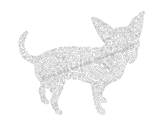 items similar to chihuahua printable coloring page