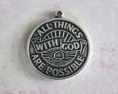 With God All Things are Possible Charm 3727