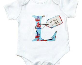 Personalized Alphabet Babygro / Boys Personalised Bodysuit / New Baby / Baby Shirt / Baby Shower Gift / Romper