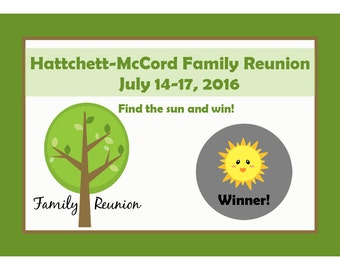 48 Personalized Family Reunion Scratch Off Game Cards - Family Game Cards - Family Reunion Party Game - Summer Party - BBQ Game Cards