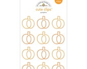 Pumpkins Paper Clips (12/Pkg) Boos & Brews Doodlebug Cute Clips (5348)