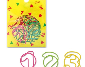 Number 123 Paper Clips (18pcs) Cute Paper Clips (49361)