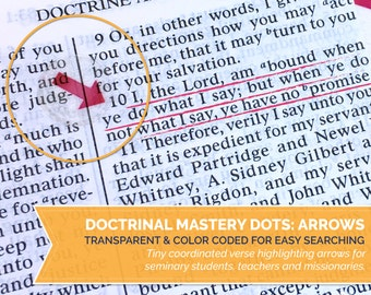 INSTANT DOWNLOAD - Seminary Doctrinal Mastery - LDS Scripture Verse Arrows - Full 154 pc printable set