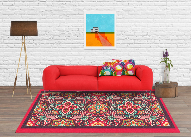 Area rug decorative rug mexican rug contemporary rug - Contemporary mexican decor ...