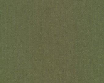 Cirrus Solids Olive Organic Cotton Quilting Fabric Cloud9