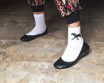 Poodle ankle socks