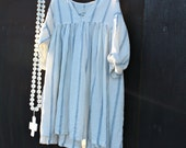 French Linen StripeD Dress Ready to Ship