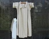 ON SALE Soft Tan Linen Dress