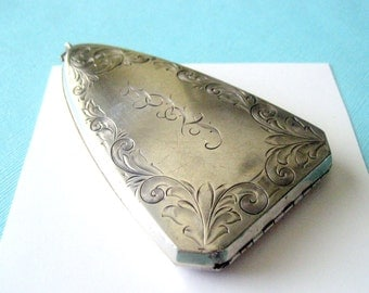 Art Deco Sterling Silver Monogrammed Coin Purse