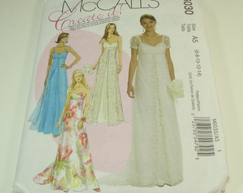 McCall's Create It Misses Dress Pattern M6030 Size 6-8-10-12-14
