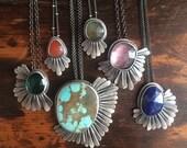 Gem Feather Necklaces