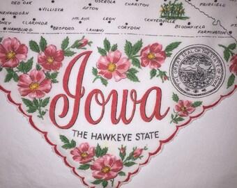 Vintage Iowa Hanky - Hankie Handkerchief