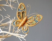 Vintage Xmas Butterfly Clip On Ornament 1960s Japan