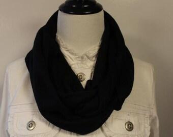 Women's Fleece Infinity Scarf Black