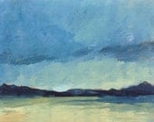 ACEO 1621, 0il painting original landscape, ACEO, miniature art, 100% charity donation, oil painting on cardboard