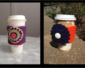 Coffee or Tea Cup Knitted Cup Cozy / Mug Wrap
