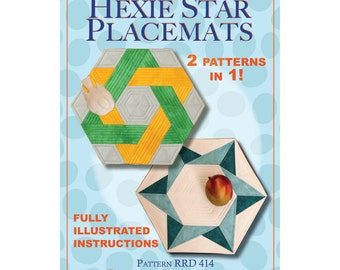 Hexie Star Placemats pattern
