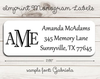 Imprint Monogram Return Address Labels