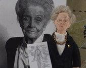 Rita Levi-Montalcini,  Italian Nobel Laureate,  Neurobiology,  Medical History,  Art Doll Miniature