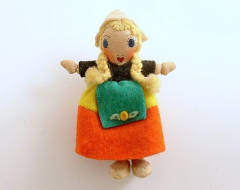 Vintage Pin Girl Doll Brooch