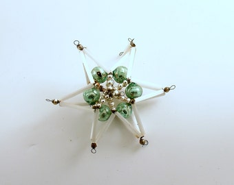 Vintage Czech Glass Bead Star Christmas Ornament Christmas Decoration