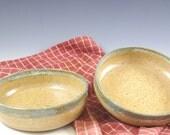 Two Handmade Small Pottery Bowls, Farmhouse Pottery, Kitchen Decor, Salad bowl, Dessert Bowls, Gourmet Gift, Kitchen Gift, Stoneware Bowls