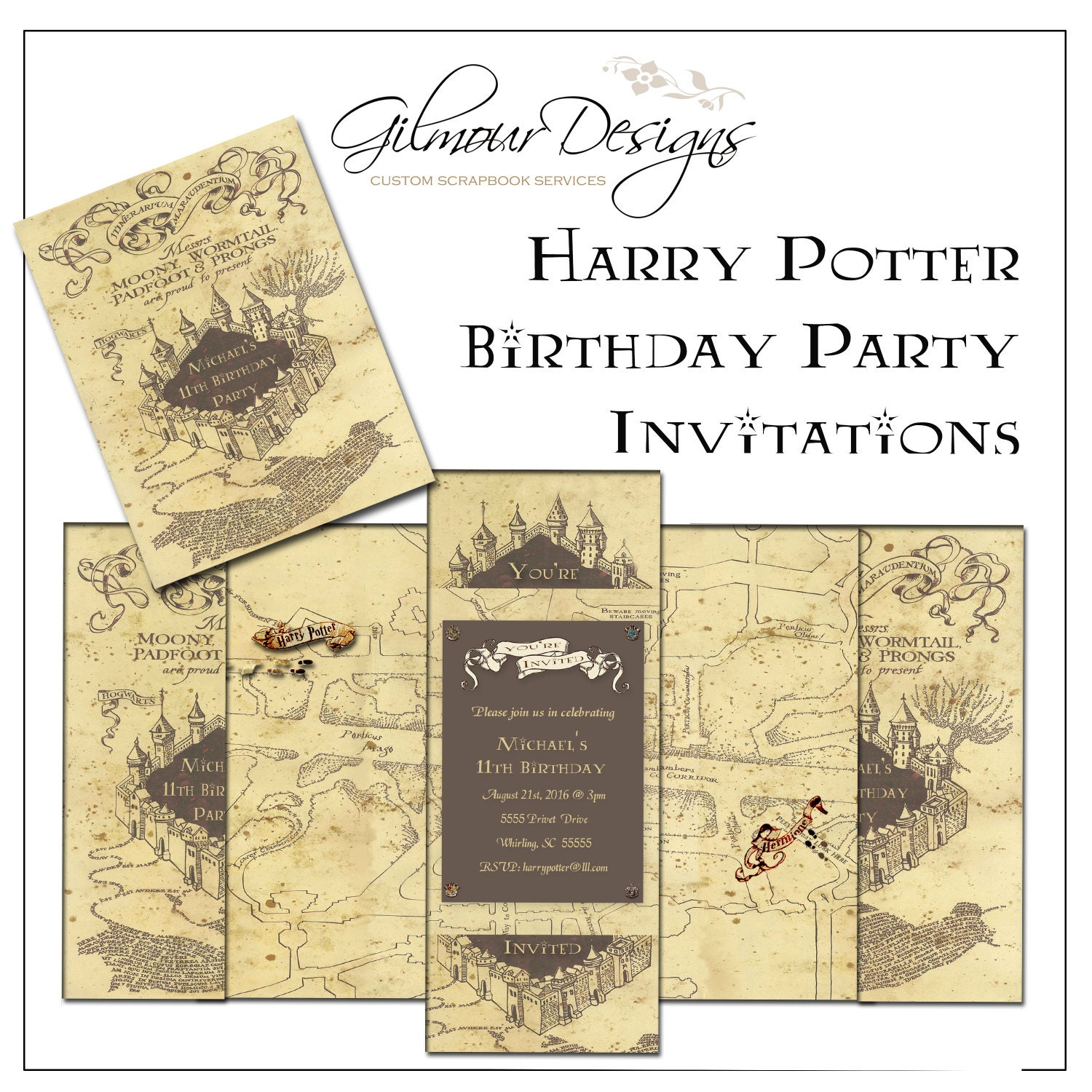 Légend image within printable marauders map