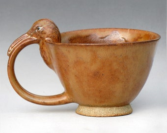 Curlew Teacup with Haystack Glaze--3 of 4