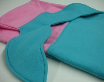 Mermaid Tail Pink and Aqua Fleece Blanket Baby Toddler Child Tween Kids Choose Size READY TO SHIP