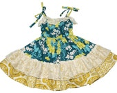 SAMPLE SALE -  Marigold Dress in Barefoot in the Park - Size 12 months