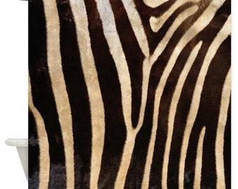 Zebra Stripe Animal Print Shower Curtain