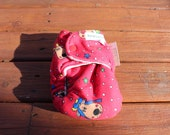 Final Clearance:  XS/NB Christmas Reindeer organic bamboo fitted cloth diaper