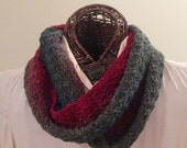 Rusty Reds to Forest Greens Infinity Scarf