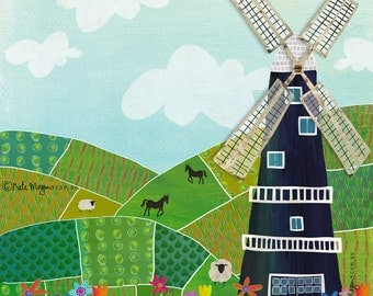 Rural Windmill ART PRINT