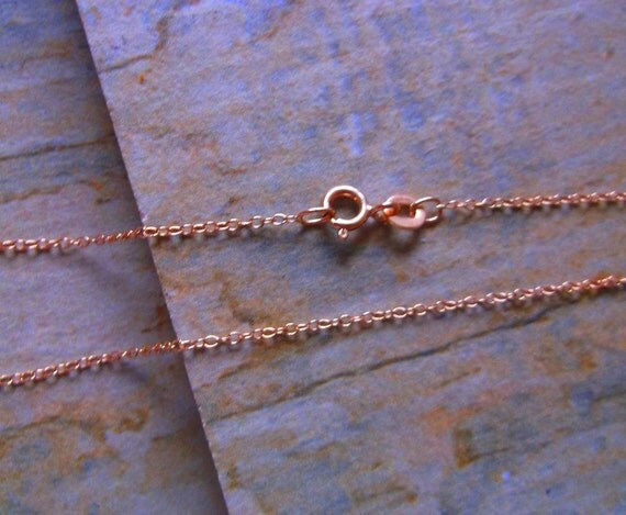 Rose Gold Vermeil Fine Trace Chain, 16 inch or 18 inch