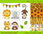 Cute Jungle Animal Clipar...