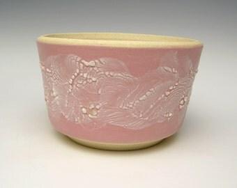 Stoneware succulent planter pot pink white cactus planter bonsai planter ceramic pottery herb plant pot 5 1/2 x 3 1/2 Free shipping T-3