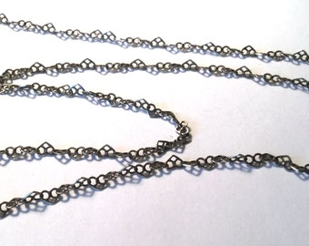 Sterling Silver Flat Heart Cable Chain 4mm