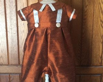 Infant Silk Dupioni Romper