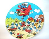 Vintage The Smurfs Picture Disc Album LP Smurfing sing along with words to lyrics 1982