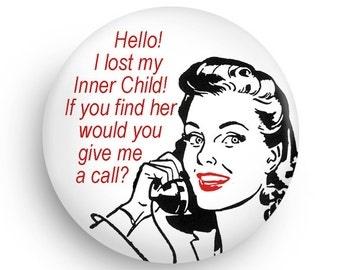 Funny Retro Fridge Magnet for Therapist, Gift for Co-worker