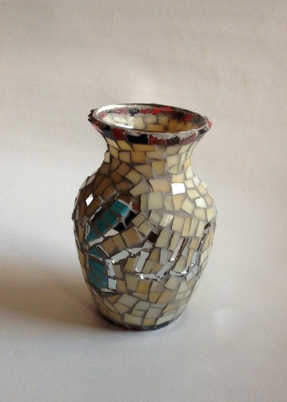 Mosaic Vase With Cursive Handwritten Words 39 Fuck You 39