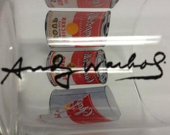 Andy Warhol signature Glass