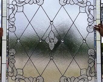 """Stained glass window - """"Classy & Clear II"""" (W-88)"""