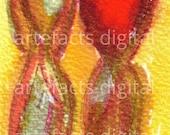 2 women figures original wall art digital printable download, home decor.
