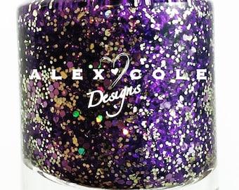 Purple Rain Nail Polish Indie Glitter Nail Polish Lacquer Custom Handmade