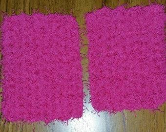 Crochet scrubbies set of 2 in Bubblegum