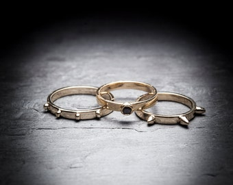 UP ALL NIGHT 10k yellow gold stackable ring
