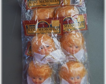 Darice Angel Head Mini Memories 6 in Package No 12016 Vintage Bulk Pack